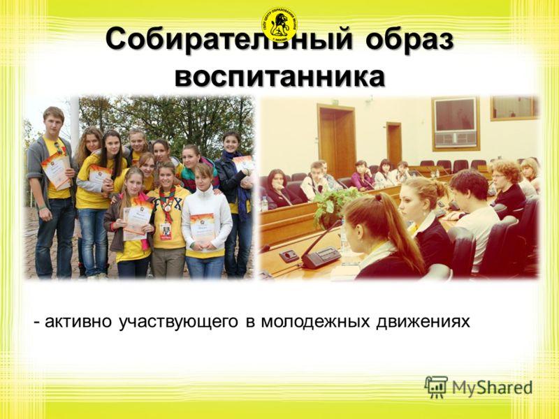Собирательный образ воспитанника - активно участвующего в молодежных движениях