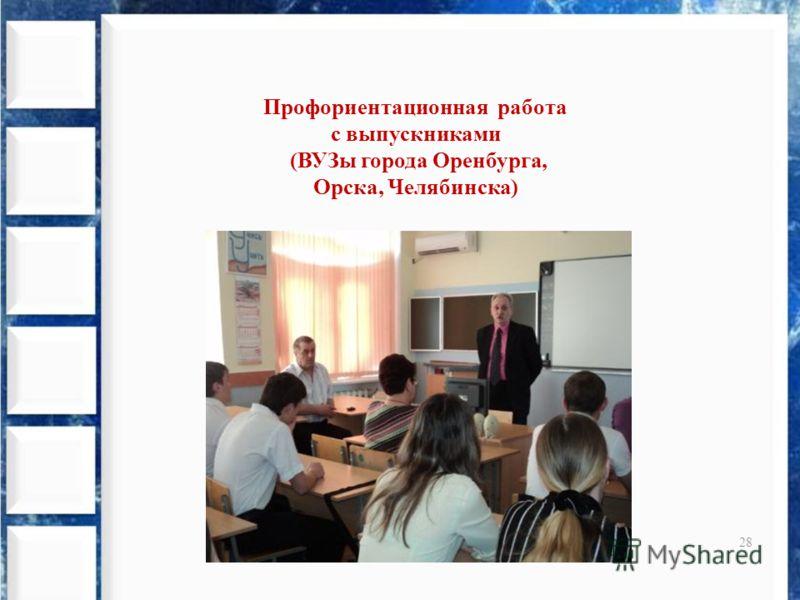 28 Профориентационная работа с выпускниками (ВУЗы города Оренбурга, Орска, Челябинска)