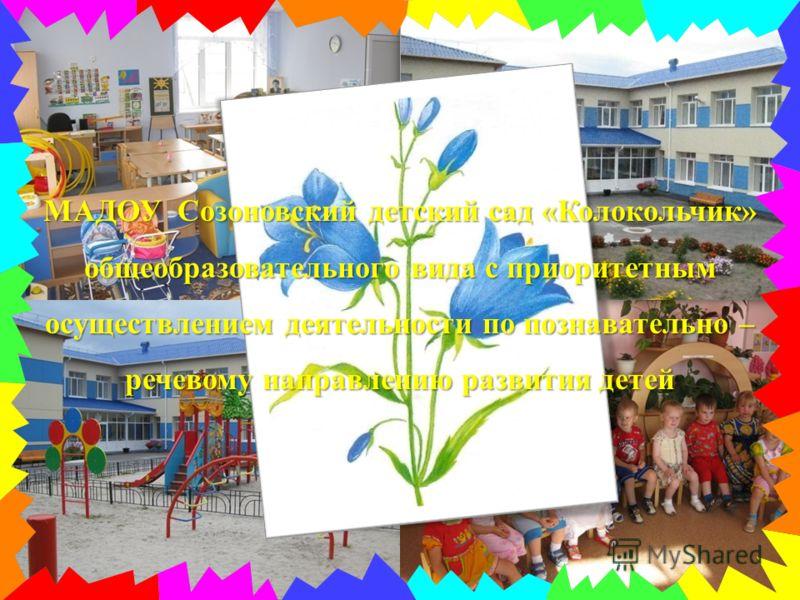 МАДОУ Созоновский детский сад «Колокольчик» общеобразовательного вида с приоритетным осуществлением деятельности по познавательно – речевому направлению развития детей