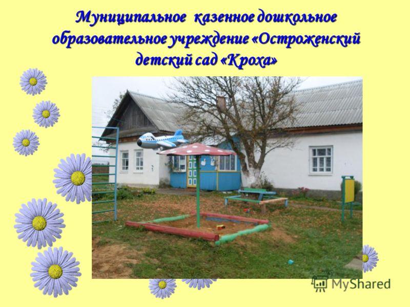 Муниципальное казенное дошкольное образовательное учреждение «Остроженский детский сад «Кроха»