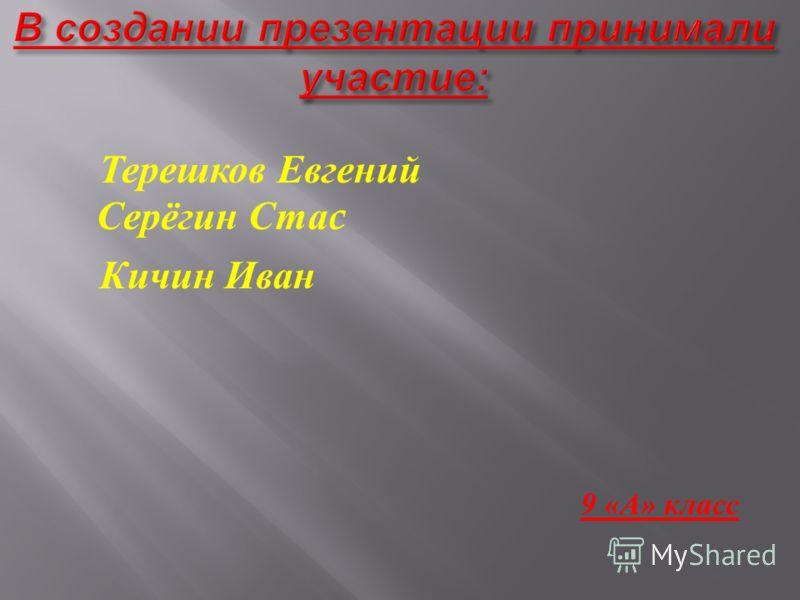 Терешков Евгений Серёгин Ста c Кичин Иван 9 « А » класс