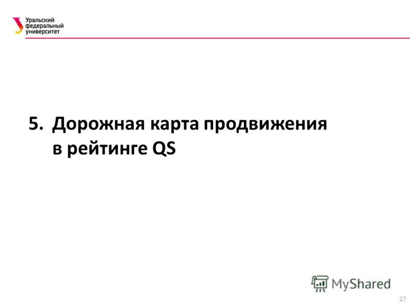 27 5. Дорожная карта продвижения в рейтинге QS