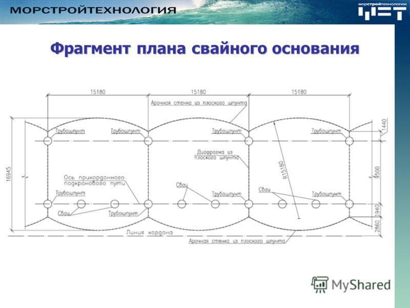 Фрагмент плана свайного основания