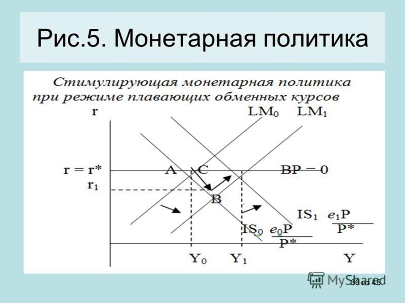 36 из 45 Рис.5. Монетарная политика