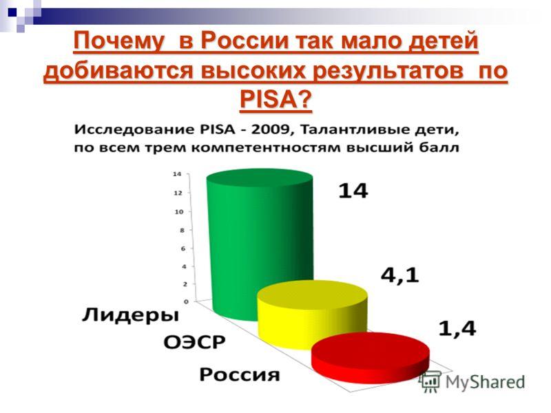 Почему в России так мало детей добиваются высоких результатов по РISA?