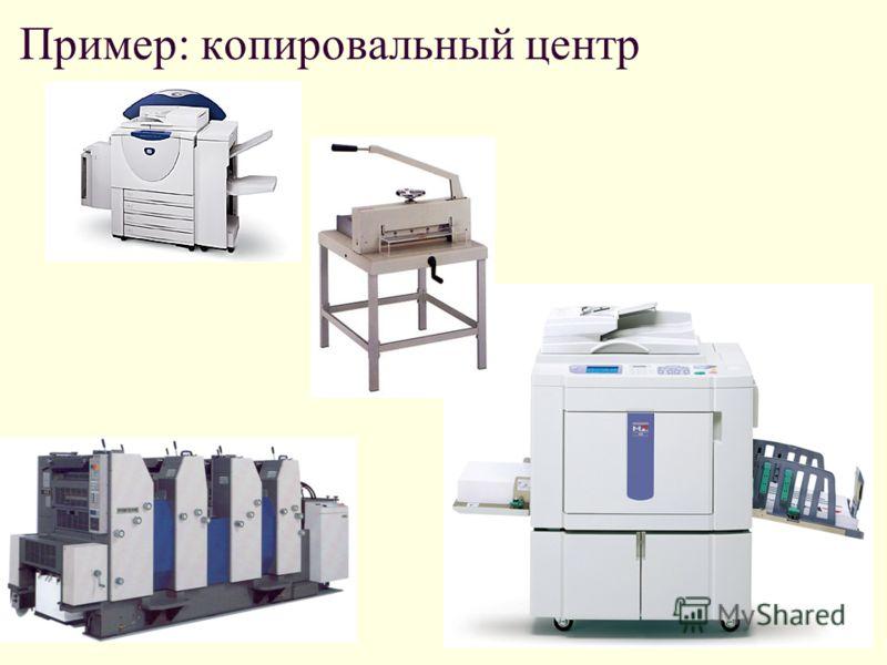 Пример: копировальный центр
