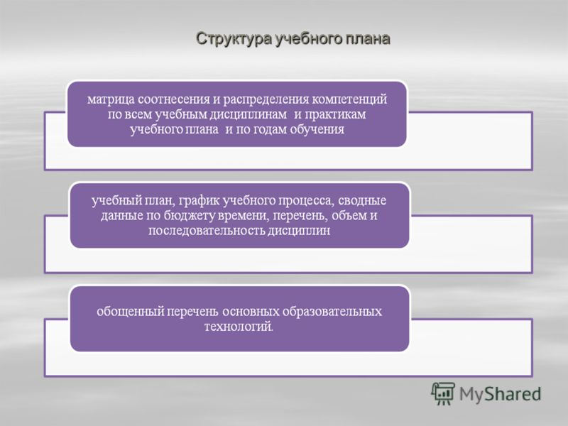 Структура учебного плана