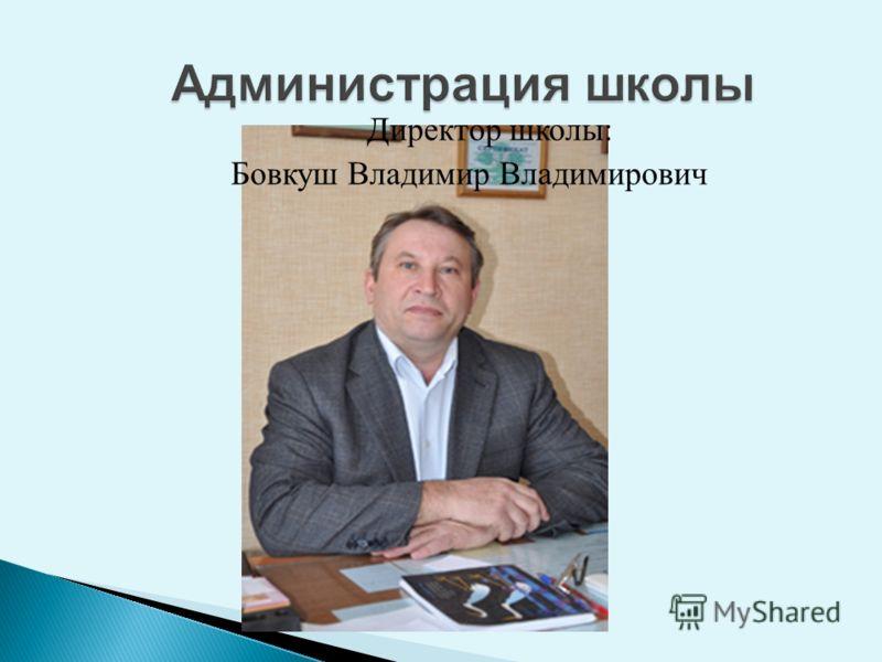 Директор школы: Бовкуш Владимир Владимирович