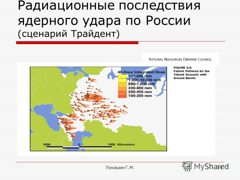 Лукашин Г.М.14 Радиационные последствия ядерного удара по России (сценарий Трайдент)