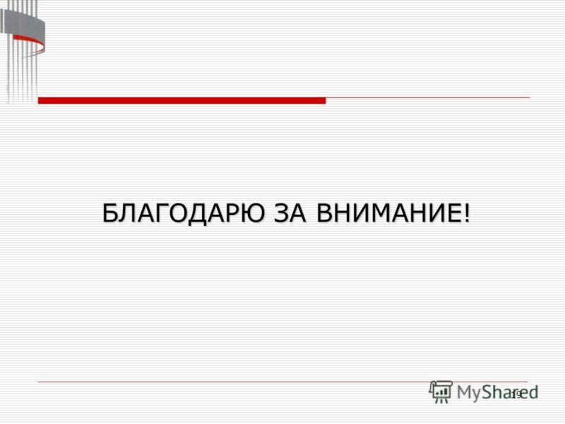 19 БЛАГОДАРЮ ЗА ВНИМАНИЕ!