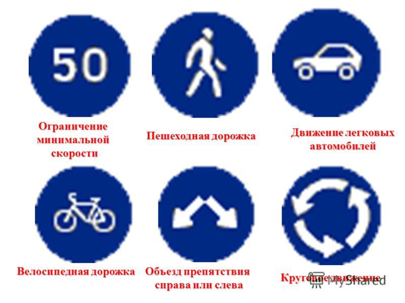 предписывающие Движение прямо Движение направо или налево или налево Движение прямо или направо или направо Движение прямо или налево