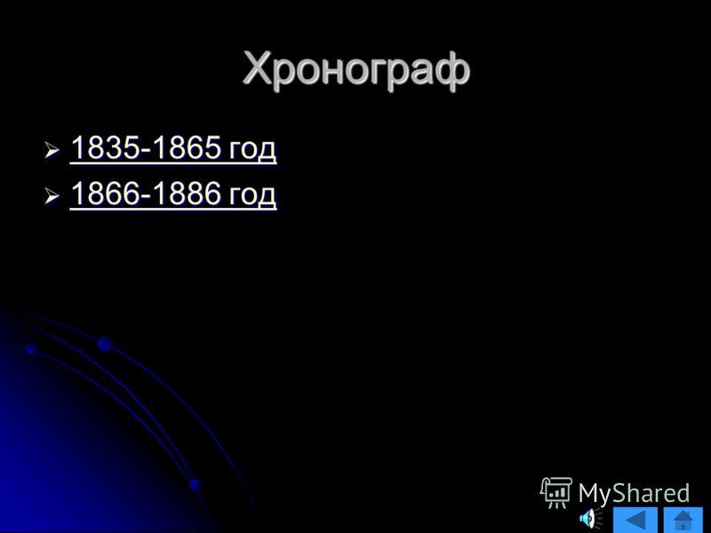Хронограф 1835-1865 год 1835-1865 год 1835-1865 год 1835-1865 год 1866-1886 год 1866-1886 год 1866-1886 год 1866-1886 год