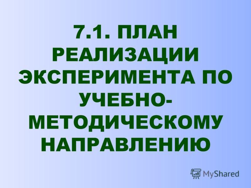 7. ПРАКТИЧЕСКИЙ ЭТАП