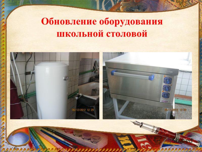 Обновление оборудования школьной столовой