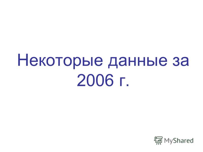 Некоторые данные за 2006 г.