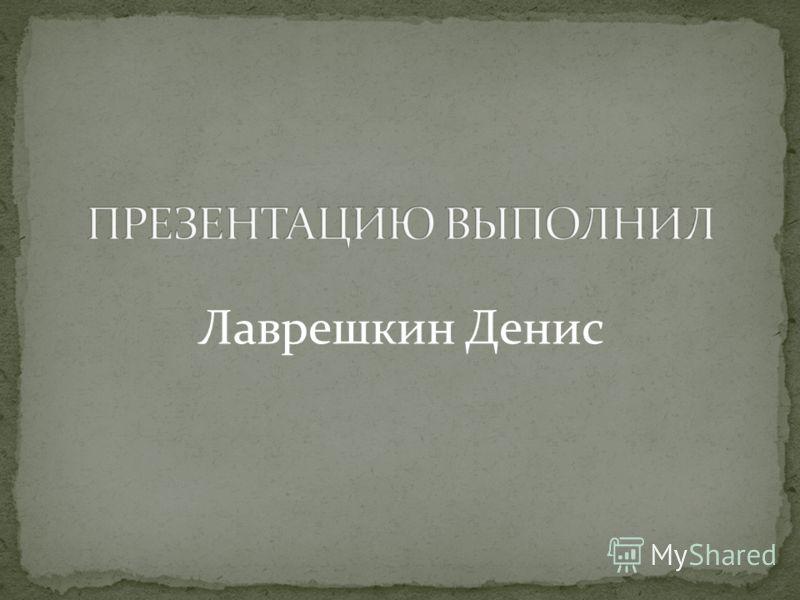 Лаврешкин Денис