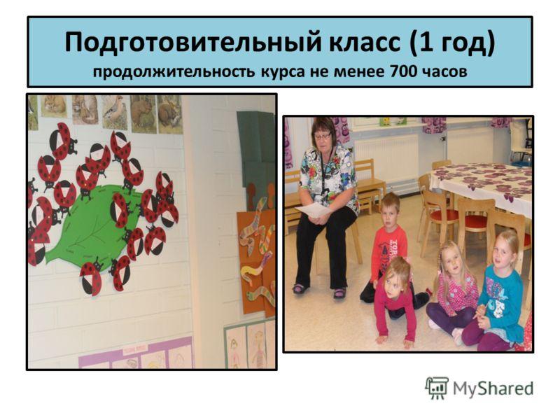Подготовительный класс (1 год) продолжительность курса не менее 700 часов