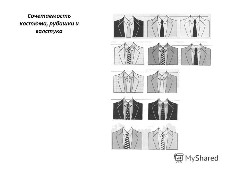Сочетаемость костюма, рубашки и галстука