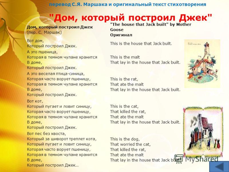 В настоящий сборник вошли самые известные произведения английской народной поэзии для детей, а также стихи Р.Киплинга, А.Милна, Э.Лира в ставших уже классическими переводах С.Маршака.