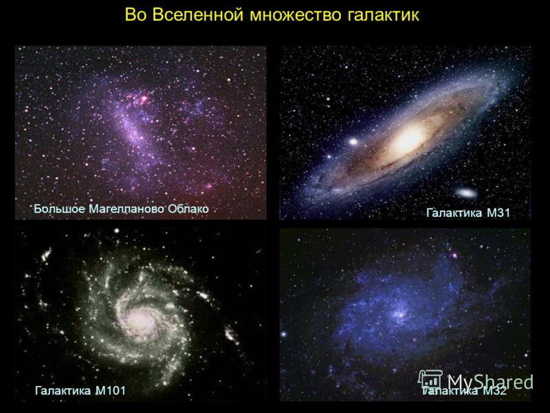 Во Вселенной множество галактик Большое Магелланово Облако Галактика М31 Галактика М32Галактика M101