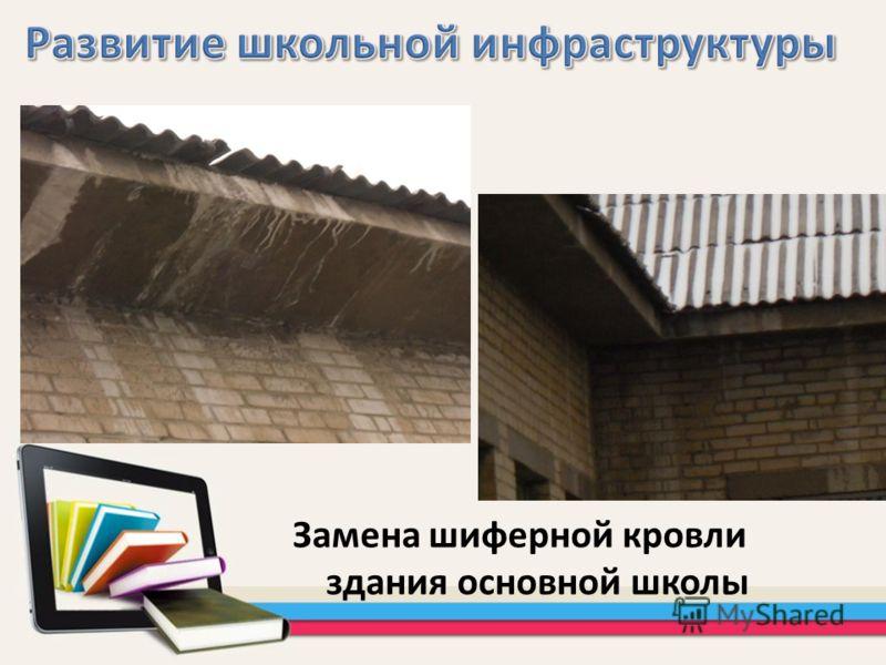 Замена шиферной кровли здания основной школы