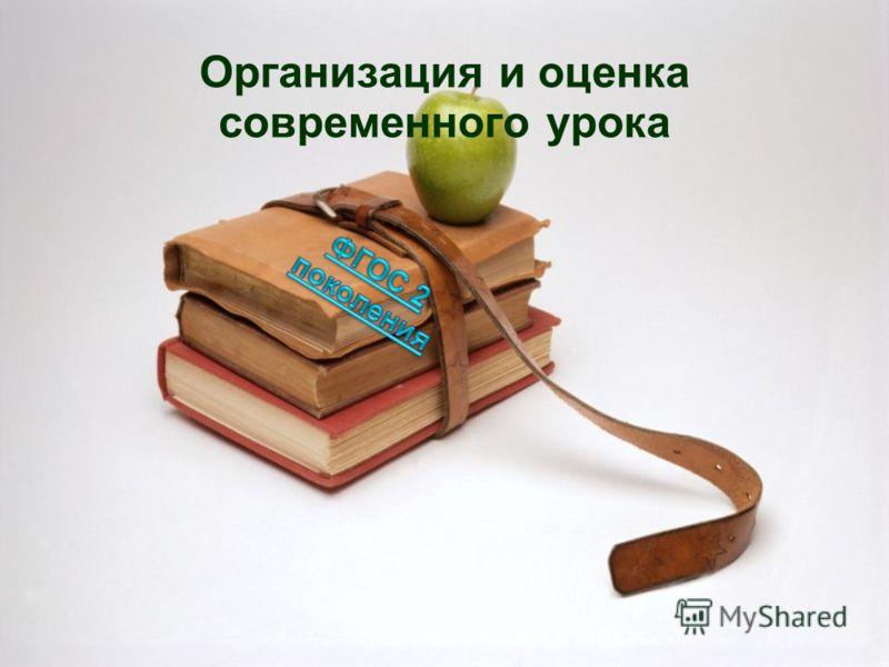 Организация и оценка современного урока