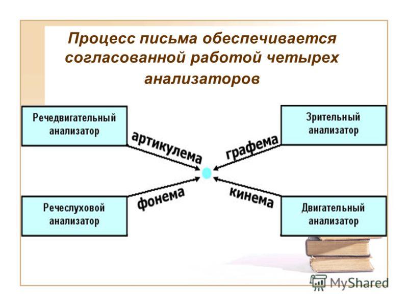 Процесс письма обеспечивается согласованной работой четырех анализаторов