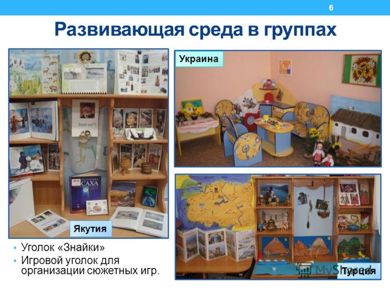 Уголок «Знайки» Игровой уголок для организации сюжетных игр. Развивающая среда в группах Украина Турция Якутия 6