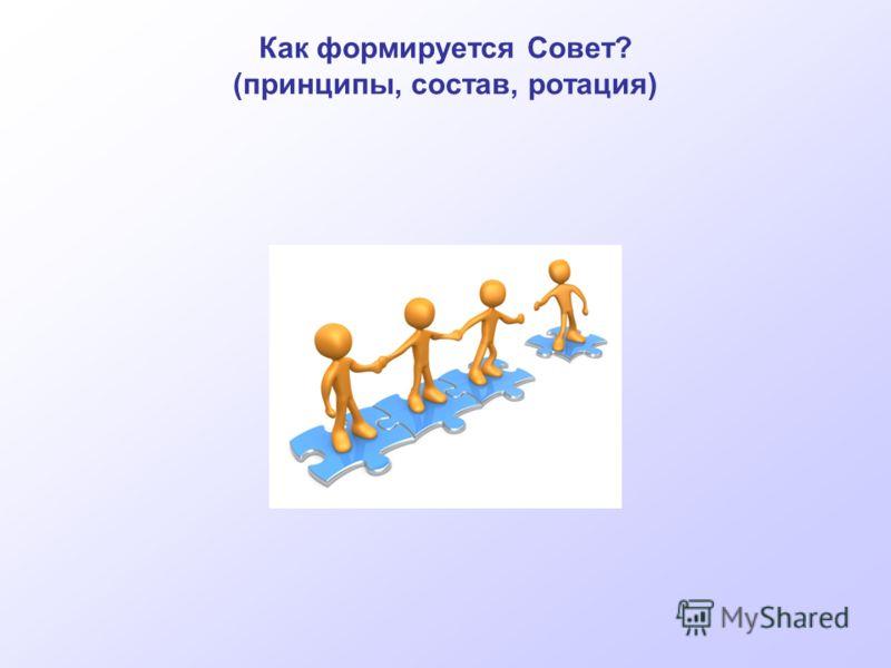 Как формируется Совет? (принципы, состав, ротация)