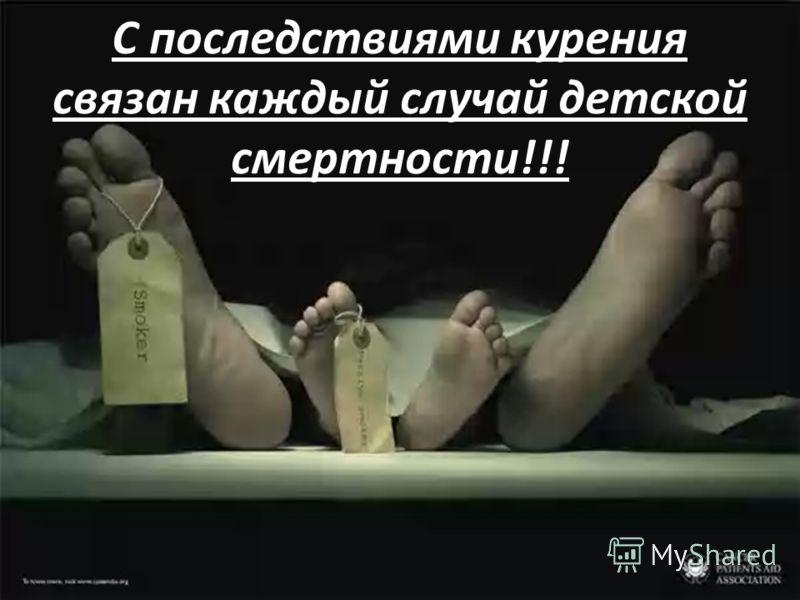 С последствиями курения связан каждый случай детской смертности!!!