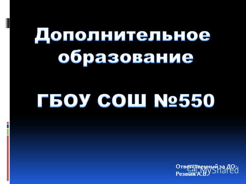 Ответственный за ДО: Резвых А.В.