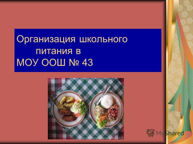 Организация школьного питания в МОУ ООШ 43