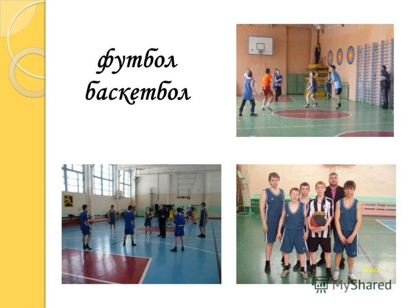 футбол баскетбол