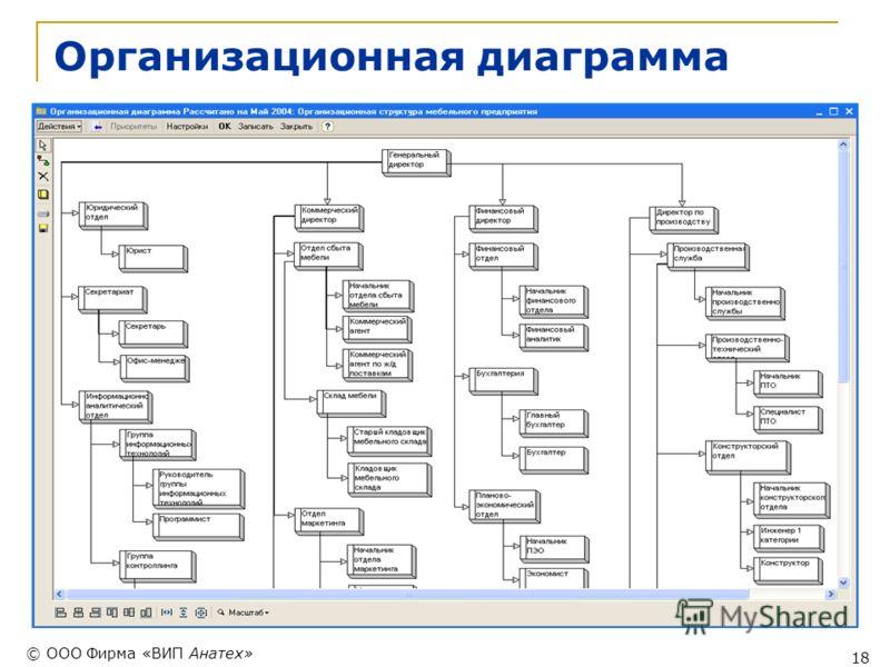 © ООО Фирма «ВИП Анатех» 18 Организационная диаграмма