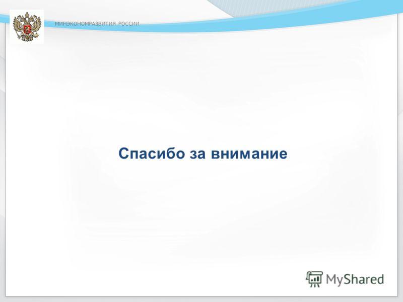 МИНЭКОНОМРАЗВИТИЯ РОССИИ Спасибо за внимание