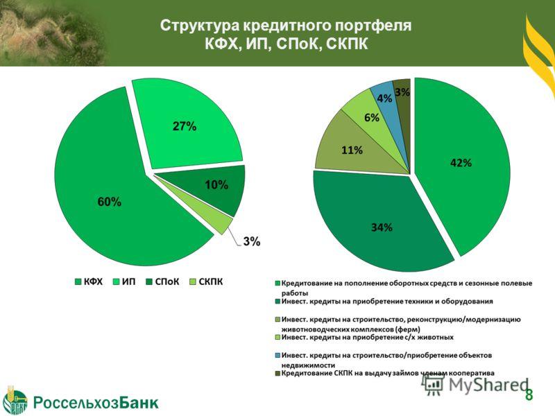 Структура кредитного портфеля КФХ, ИП, СПоК, СКПК 8