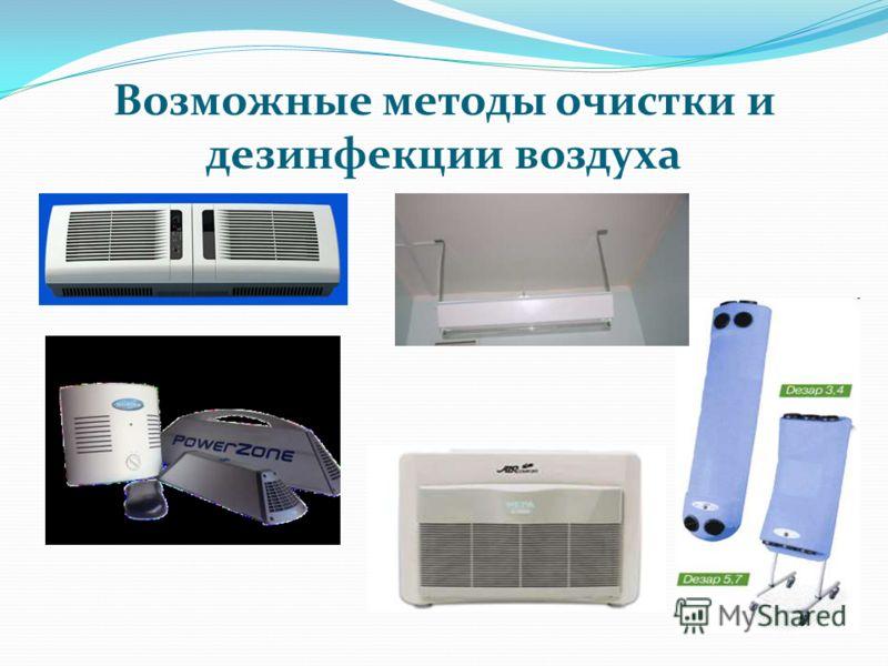 Возможные методы очистки и дезинфекции воздуха