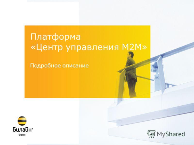 Платформа «Центр управления M2M» Подробное описание