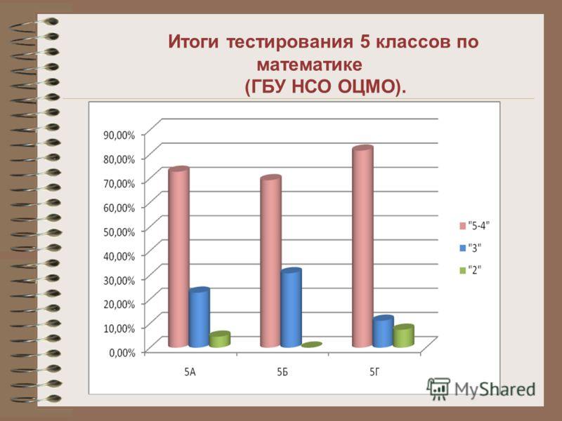 Итоги тестирования 5 классов по математике (ГБУ НСО ОЦМО).