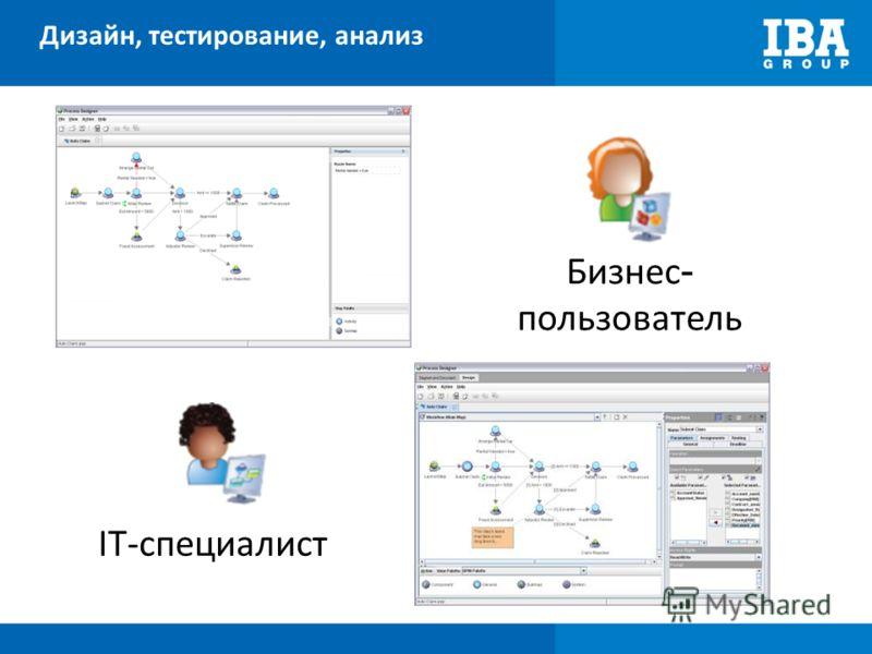 Дизайн, тестирование, анализ IT-специалист Бизнес - пользователь