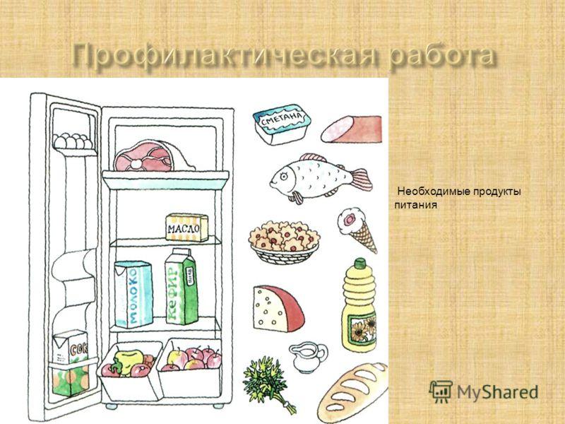 Необходимые продукты питания