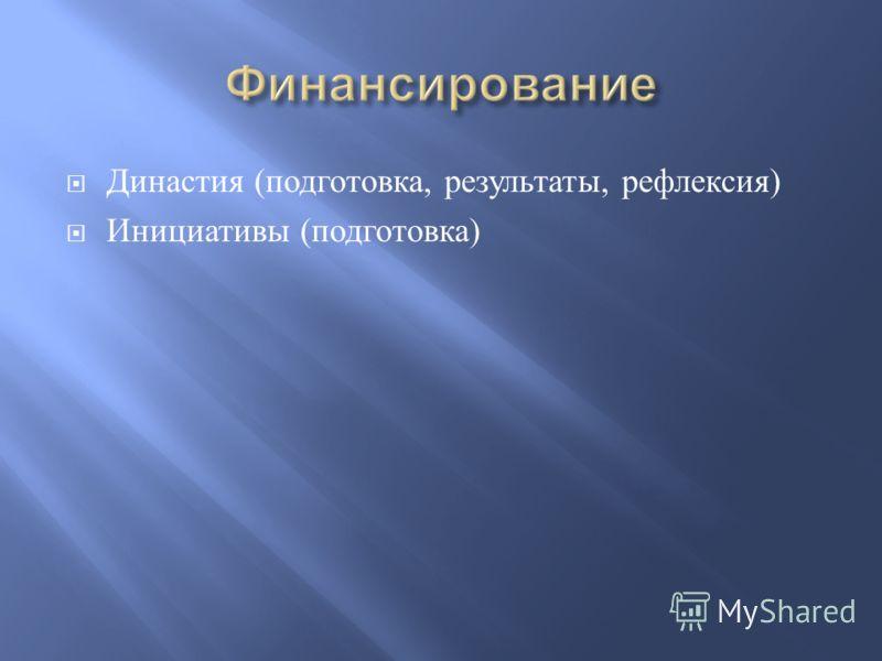 Династия ( подготовка, результаты, рефлексия ) Инициативы ( подготовка )