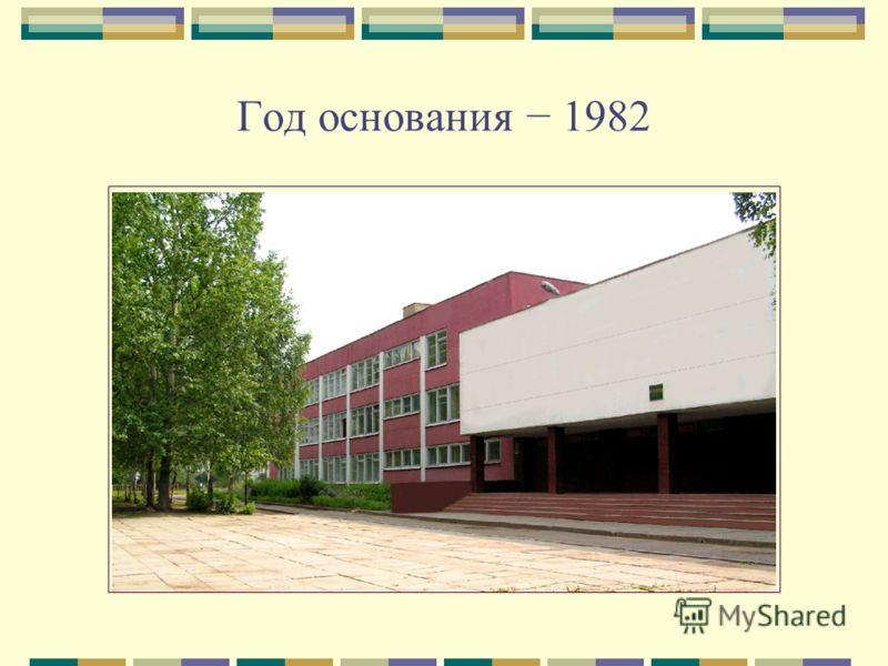 Год основания 1982