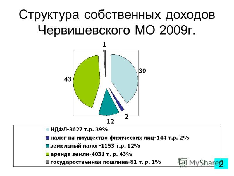 Структура собственных доходов Червишевского МО 2009г. 2