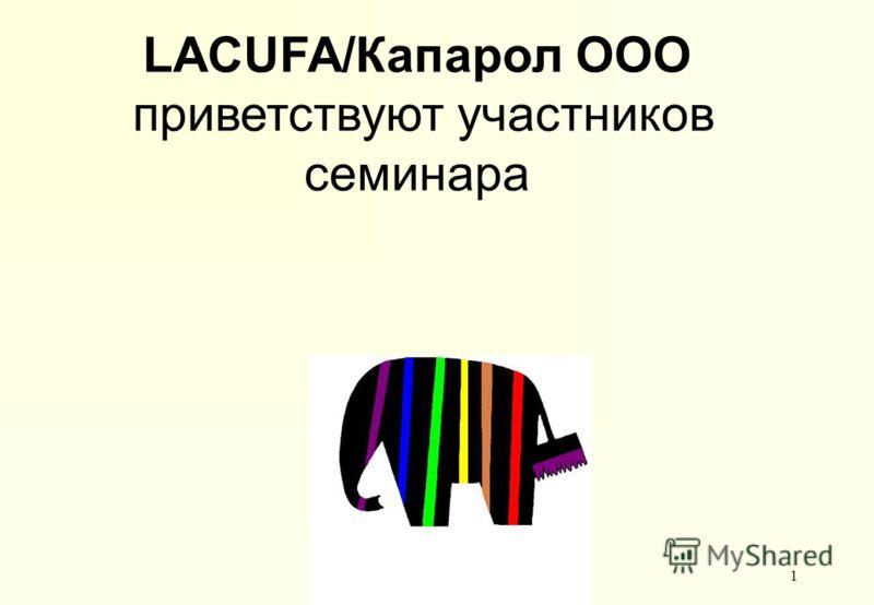 Grundiertechnik II - Grundiermittel1 LACUFA/Капарол ООО приветствуют участников семинара
