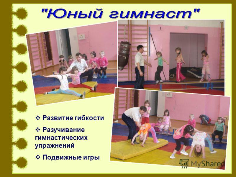 Развитие гибкости Разучивание гимнастических упражнений Подвижные игры