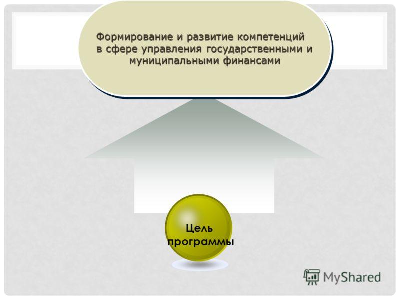 Формирование и развитие компетенций в сфере управления государственными и муниципальными финансами Формирование и развитие компетенций в сфере управления государственными и муниципальными финансами Цель программы