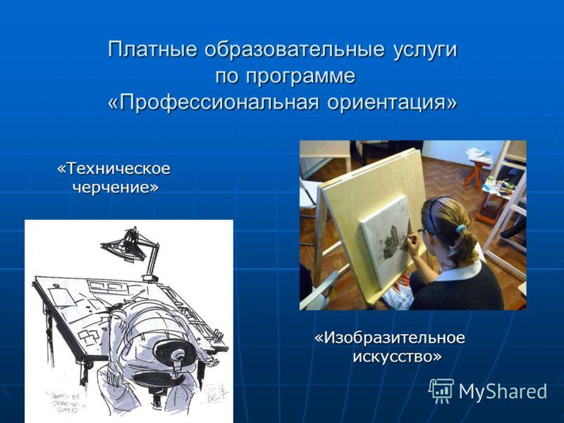 Платные образовательные услуги по программе «Профессиональная ориентация» «Техническое «Техническое черчение» черчение» «Изобразительное «Изобразительное искусство» искусство»