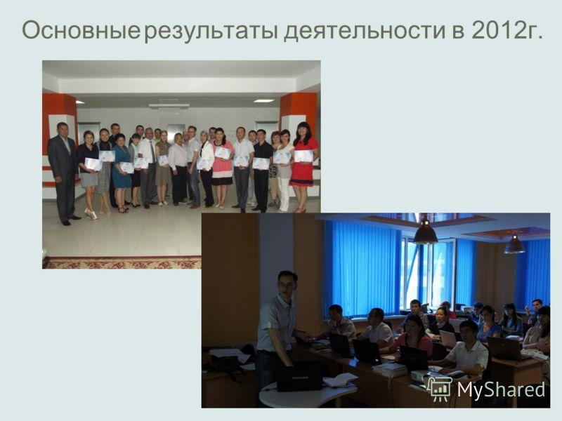 Основные результаты деятельности в 2012г.