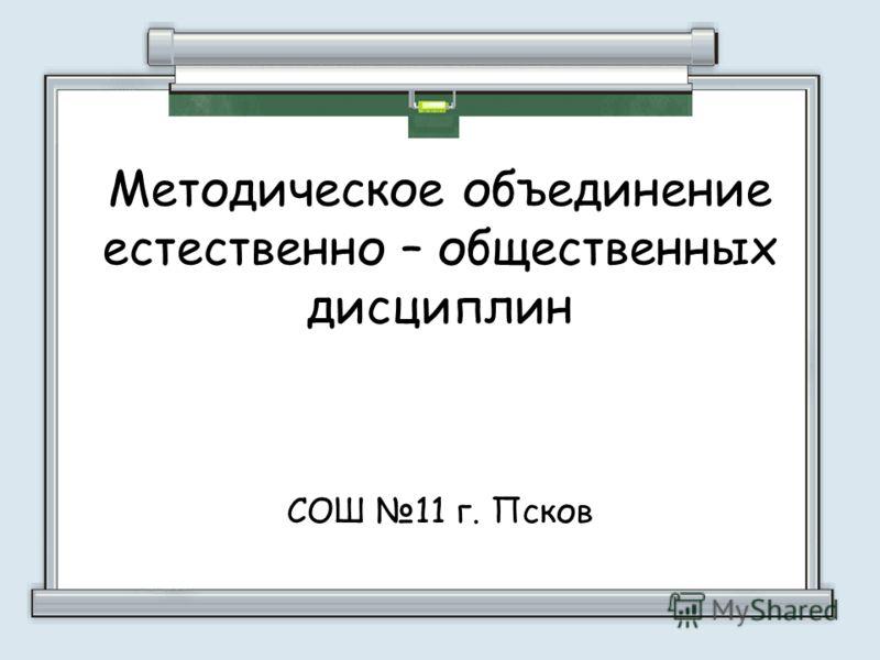 Методическое объединение естественно – общественных дисциплин СОШ 11 г. Псков